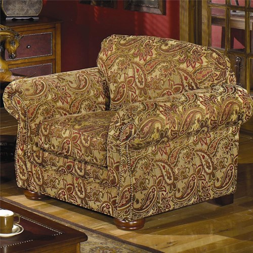 Hickorycraft 2675 Upholstered Chair with Rolled Arms