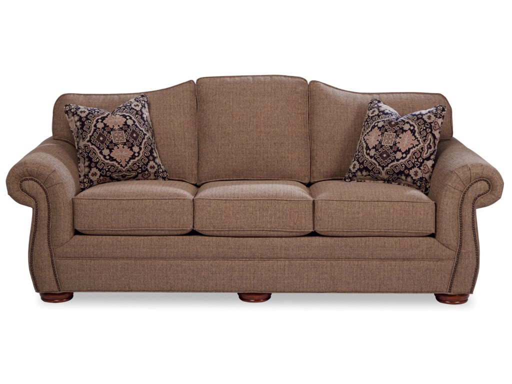 Hickory Craft 268550Sofa w/ Small Dark Brass Nails