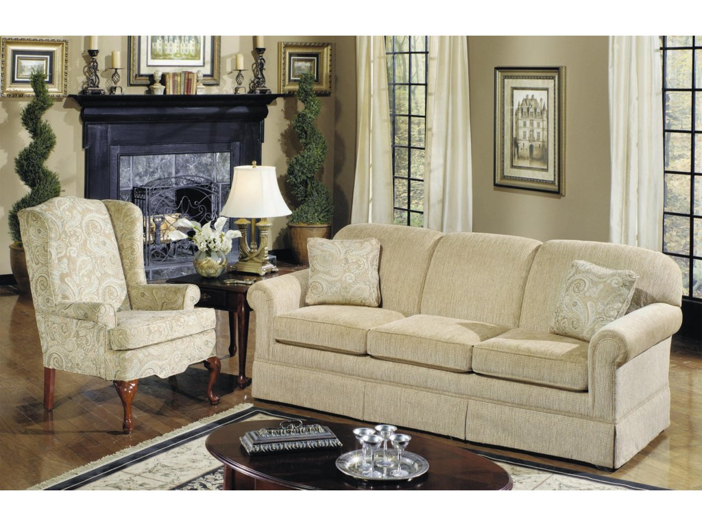 Hickorycraft 4200Traditional Wing Chair
