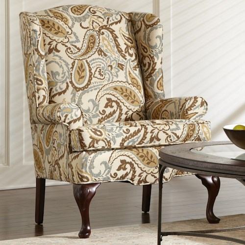 Craftmaster 4200 Traditional Wing Chair with Rolled Arms