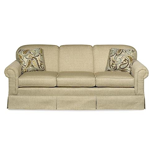 Hickorycraft 4200 Traditional Stationary Sleeper Sofa