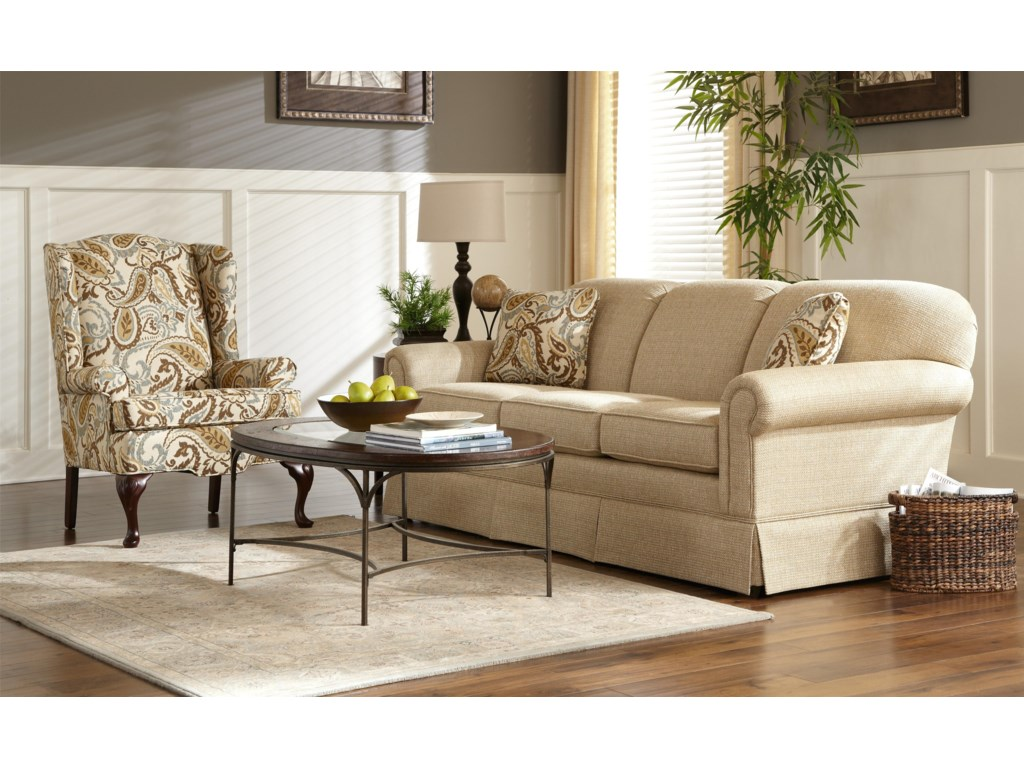 Hickory Craft 4200Stationary Sleeper Sofa
