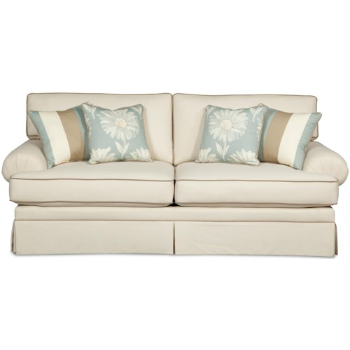 Hickory Craft 4550 Casual Upholstered Stationary Sofa