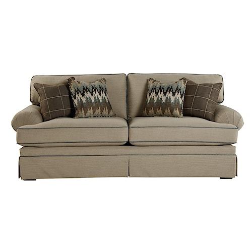 Craftmaster 4550 Casual Upholstered Stationary Sofa