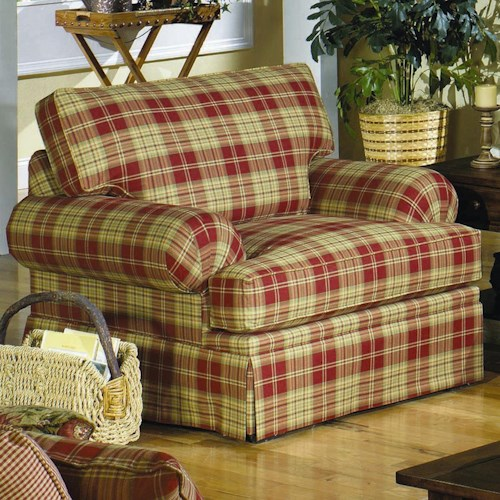 Hickorycraft 4550 Casual Upholstered Stationary Chair