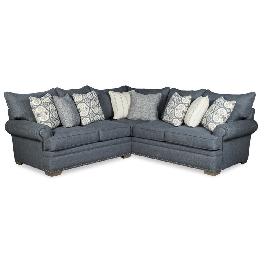 Transitional 4-Seat Sectional Sofa with LAF Loveseat