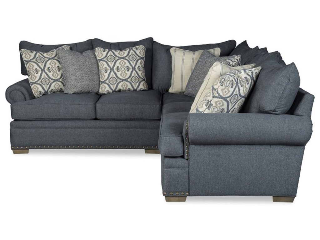Craftmaster 701650BD4-Seat Sectional Sofa w/ LAF Loveseat