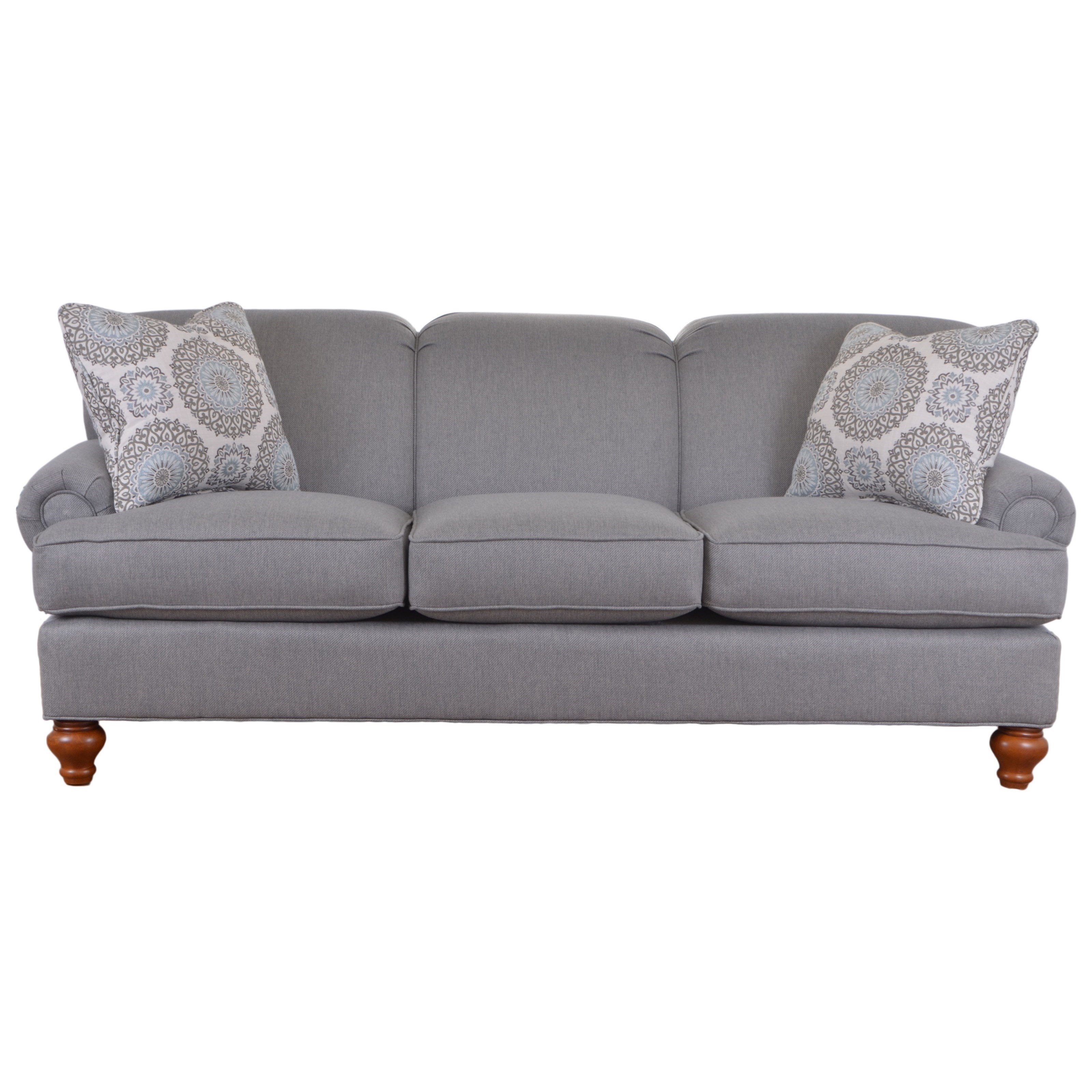 Ordinaire Hickorycraft 7047 Traditional Sofa With Turned Wood Legs