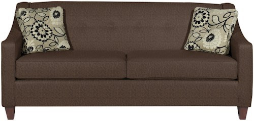 Craftmaster 7069 Contemporary Queen Memory Foam Sleeper with Button Detail