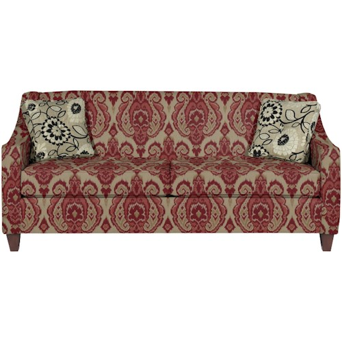Hickory Craft 7069 Contemporary Sofa with Button Detail