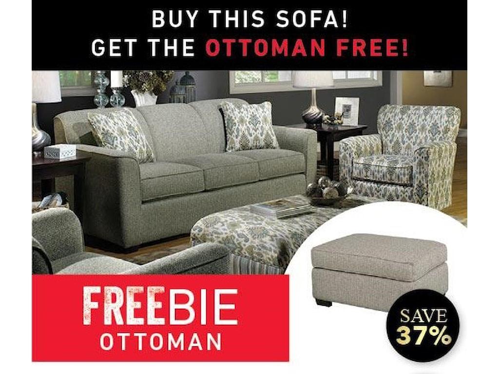 Main & Madison BetsyBetsy Sofa and Freebie Ottoman