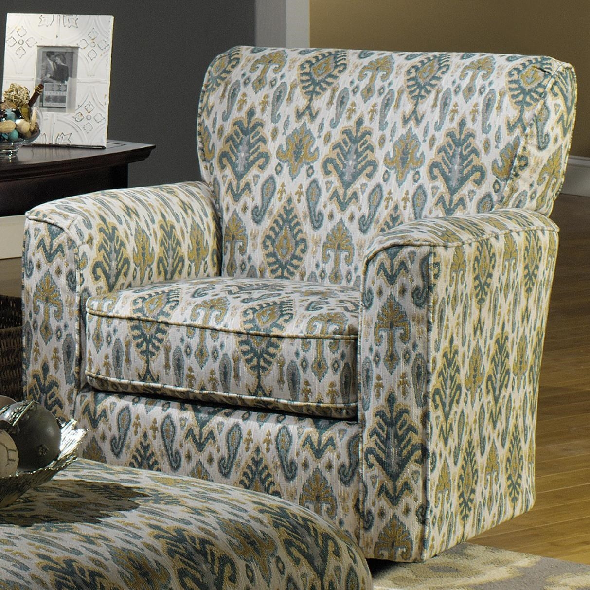 Craftmaster 7255 Contemporary Chair with Flared Track