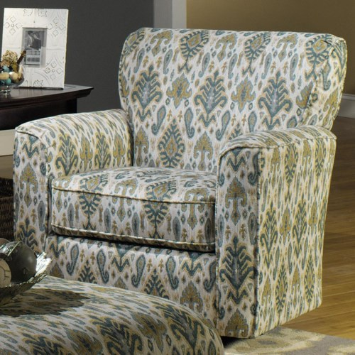 Hickory Craft 7255 Contemporary Chair With Flared Track