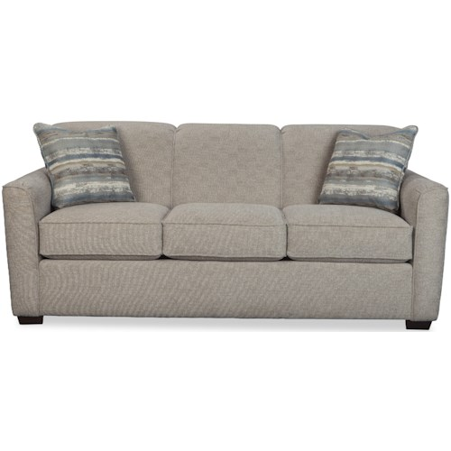 Craftmaster 7255 Contemporary Sleeper Sofa with Flared Track Arms