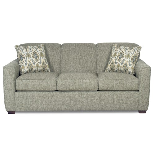 Cozy Life 725500 Contemporary Sleeper Sofa with Flared Track Arms and Memory Foam Mattress