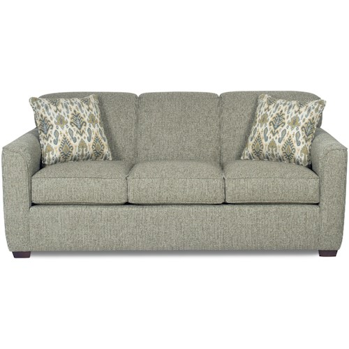 Craftmaster 7255 Contemporary Sleeper Sofa with Flared Track Arms ...