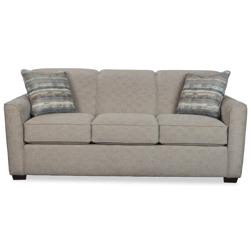 Hickorycraft 7255 Contemporary Sleeper Sofa With Flared Track Arms