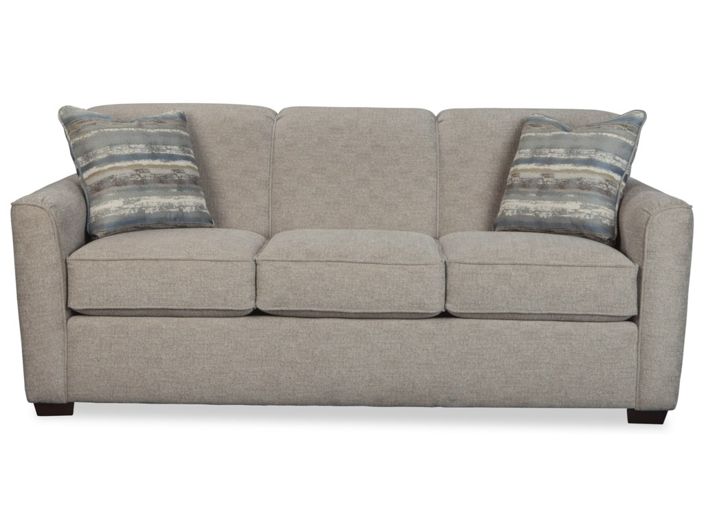 Hickorycraft 7255Sleeper Sofa w/ Memory Foam Mattress