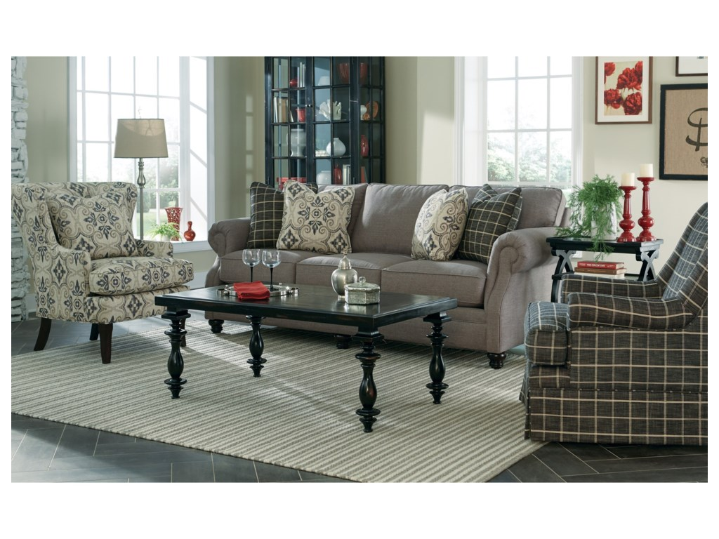 Craftmaster 7266Transitional Stationary Sofa