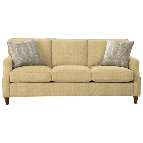 Cozy Life 7364 Transitional Sofa with Flair Tapered Arms