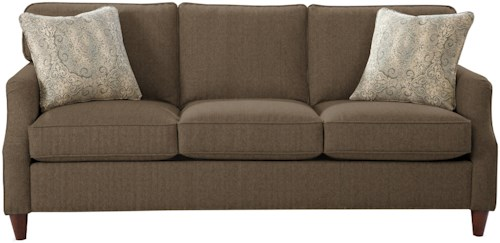 Craftmaster 7364 Transitional Sofa with Flair Tapered Arms