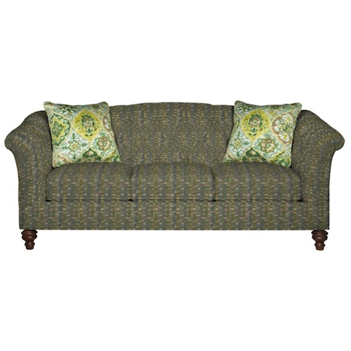 Cozy Life 7377 Button-Tufted Sofa with Flared and Pleated Arms