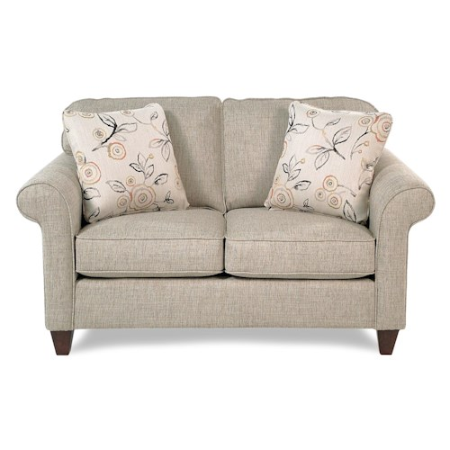 Cozy Life Jarvis Transitional Loveseat w/ Sock-Rolled Arms