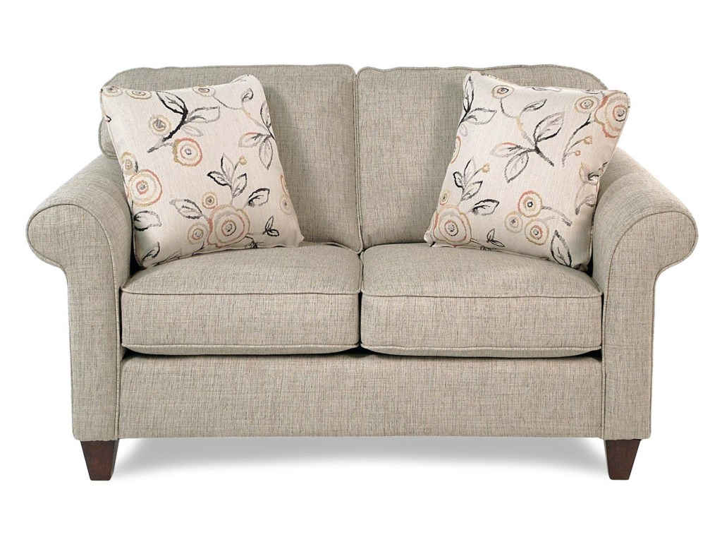 Cozy Life JarvisTransitional Loveseat w/ Rolled Arms