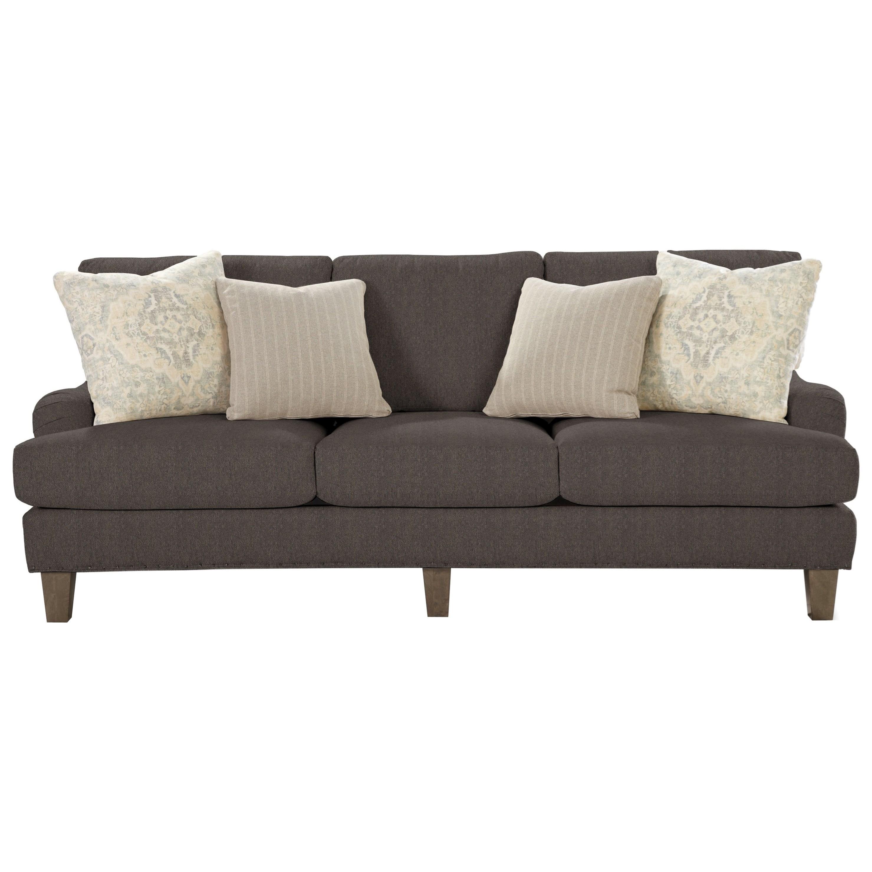 Transitional English-Arm Sofa with Vintage Tack Trim