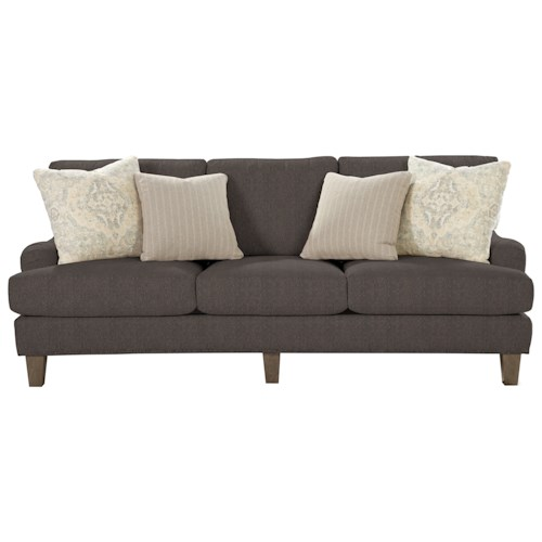 Cozy Life 7429 Transitional English-Arm Sofa with Vintage Tack Trim