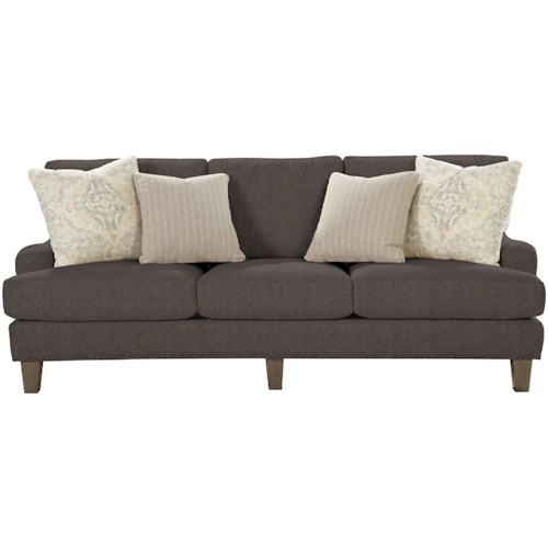 Craftmaster 7429 Transitional English-Arm Sofa with Vintage Tack Trim