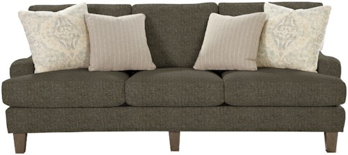 Craftmaster 7430 Transitional Sofa with English Arms