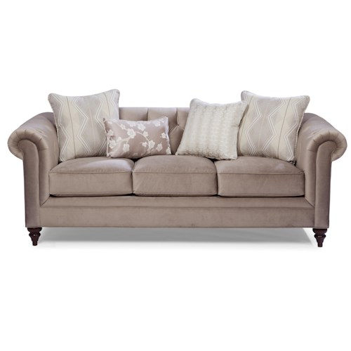Cozy Life 7433 Traditional Chesterfield Sofa