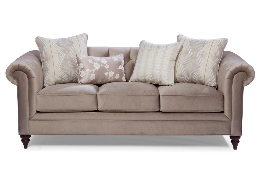 Craftmaster 7433 Traditional Chesterfield Sofa Belfort Furniture Sofas