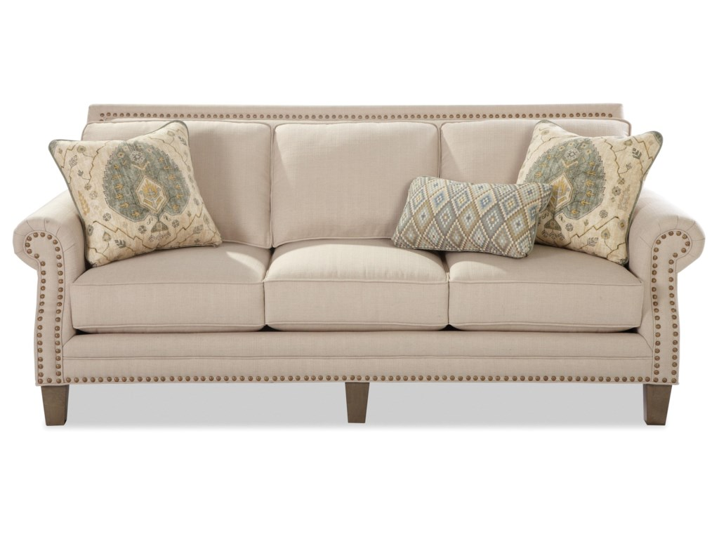 Sofa with brass nailheads craftmaster 747sofa with brass nailheads