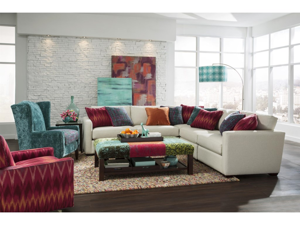 Craftmaster 7511005 Pc Sectional Sofa
