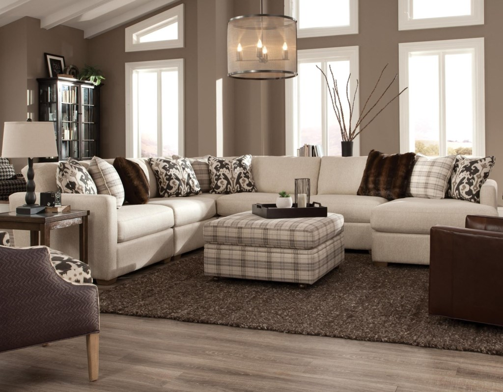 Craftmaster 751100 Five Piece Sectional With Raf Chaise Hudson S  ~ Five Piece Sectional Sofa