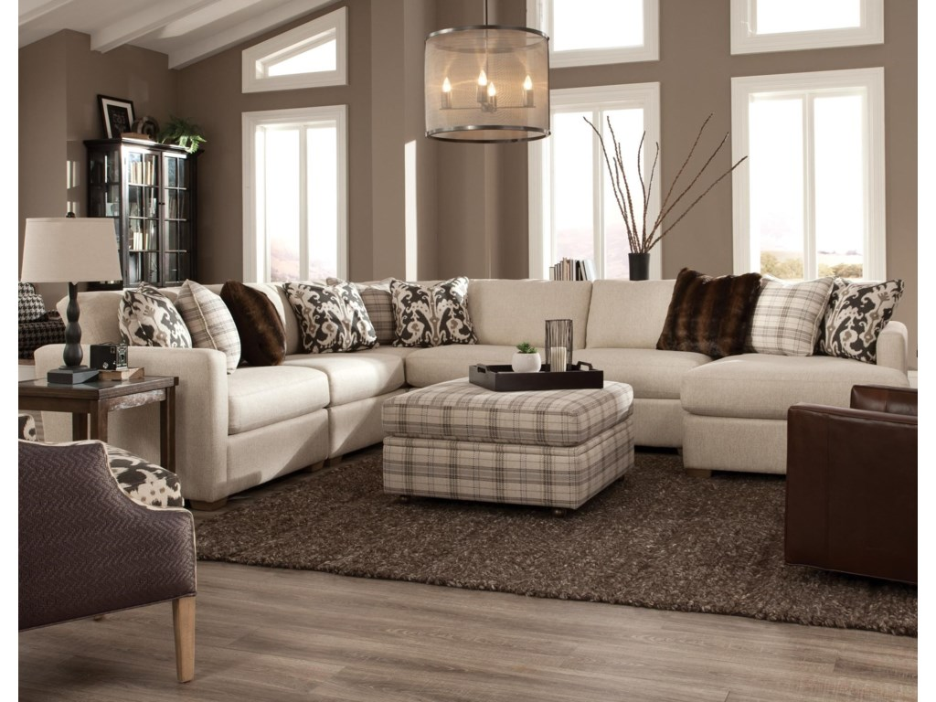 Craftmaster 7511005 Pc Sectional w/ RAF Chaise