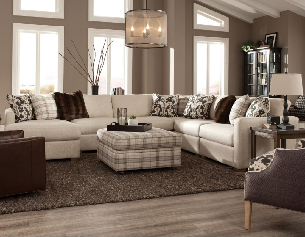 Craftmaster 751100 Five Piece Sectional With Laf Chaise Hudson S  ~ Five Piece Sectional Sofa