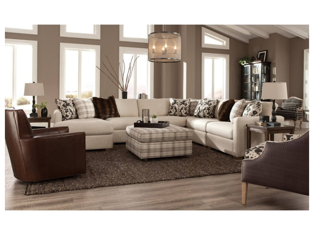 Craftmaster 7511005 Pc Sectional w/ LAF Chaise