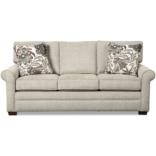 Craftmaster 7523 Transitional Sofa with Rolled Arms and Loose Back Cushions