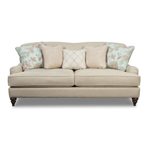 Cozy Life 7526 Traditional Camelback Sofa with Deep Seats