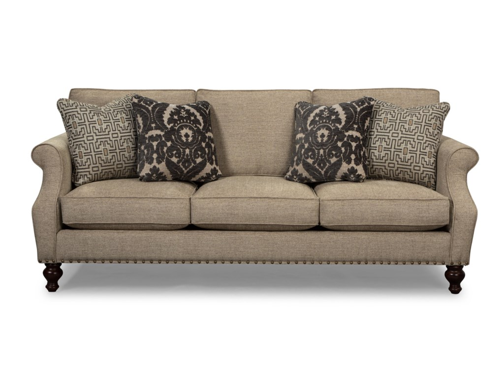 Craftmaster 753200 - 753300Sofa w/ Light Brass Nails