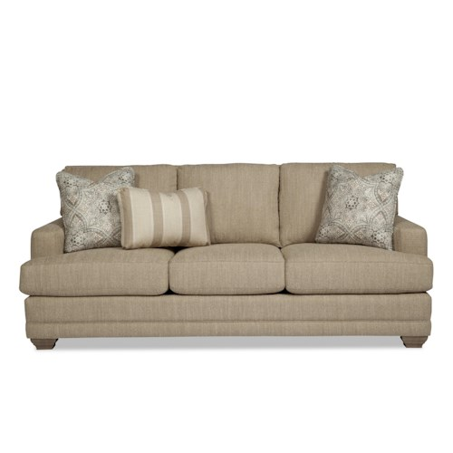 Cozy Life 753650 Traditional Sofa with Track Arms