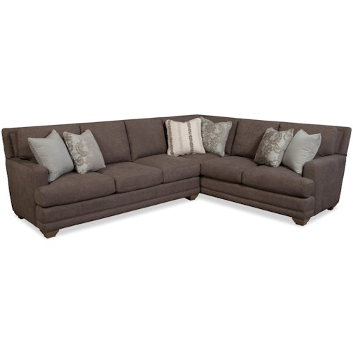 Craftmaster 7536 Traditional Sectional Sofa with Toss Pillows