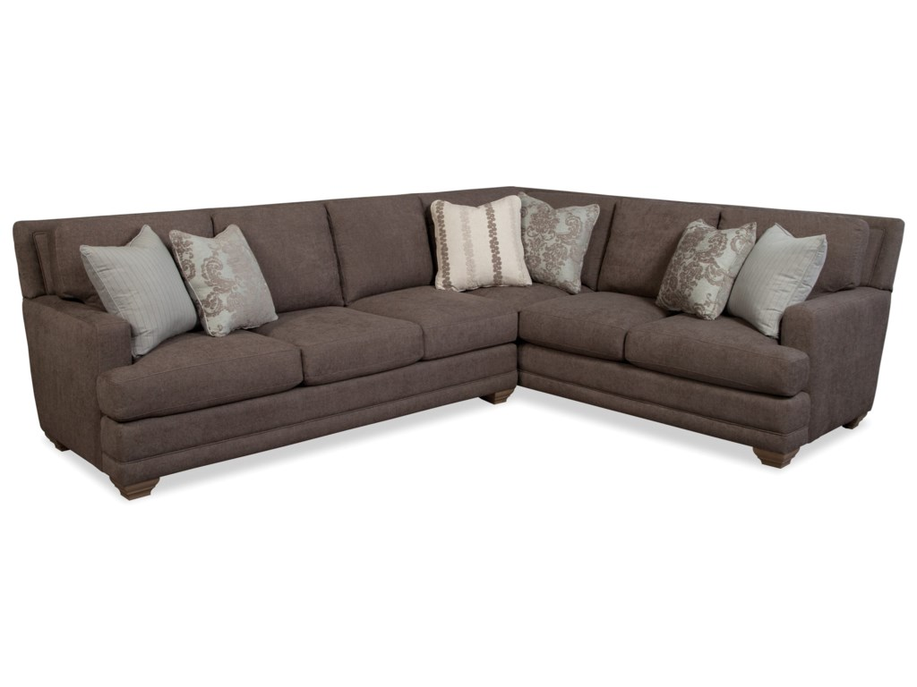 Craftmaster 753650BD5-Seat Sectional Sofa with RAF Loveseat