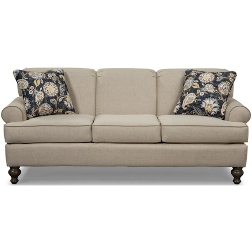 Craftmaster 7548 Small-Scale Traditional Sofa