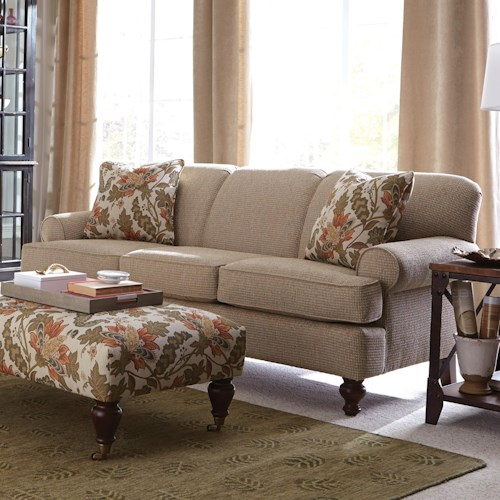 Craftmaster 754800 Small-Scale Traditional Sofa