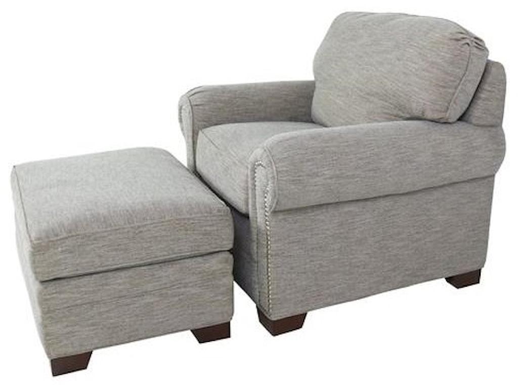 Cozi Life Upholstery 7565Chair and Ottoman