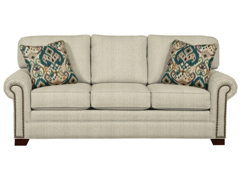 Craftmaster 7565 Transitional Sleeper Sofa with Large Rolled Arms ...